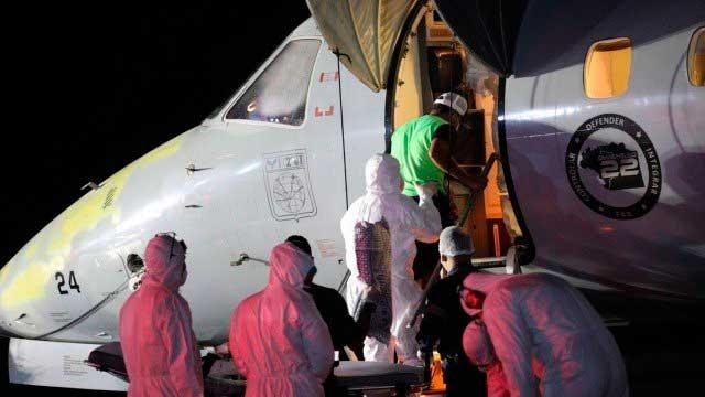Pacientes de Manaus com Covid-19 foram transferidos para o Estado do Rio de Janeiro Foto: Lucas Silva / Secom / Agência O Globo