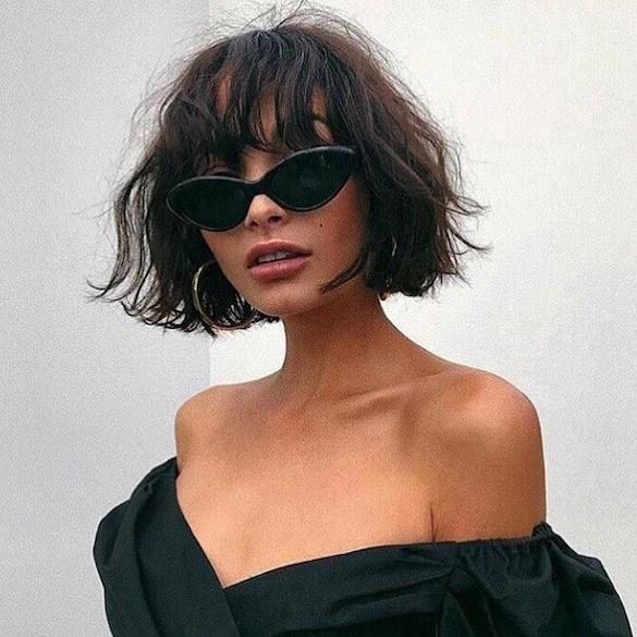 corte de cabelo com volume