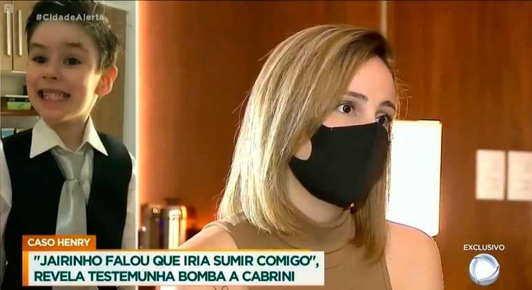 Ex de Jairinho falou com exclusividade ao repórter Roberto Cabrini REPRODUÇÃO/RECORD TV