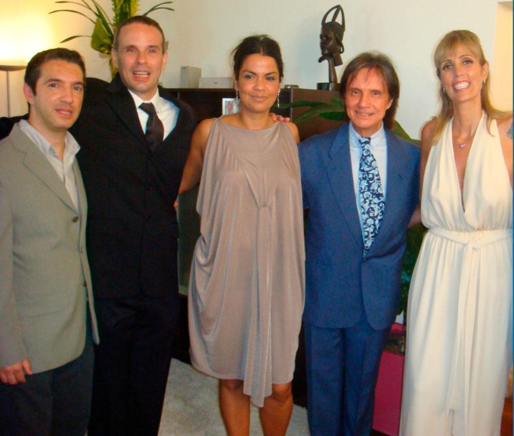 Roberto Carlos e os filhos