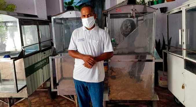 Outras nove pessoas da família de Santos também viviam da venda de pipocas MICHELYNE KUBITSCHEK / RECORD TV MINAS