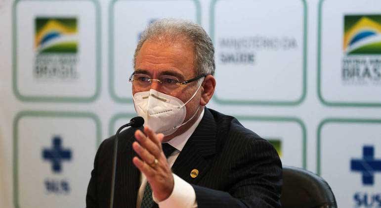 O ministro da Saúde, Marcelo Queiroga: 'Brasil é o quinto país do mundo que mais distribui vacinas' MARCELLO CASAL JRAGÊNCIA BRASIL - 30.04.2021