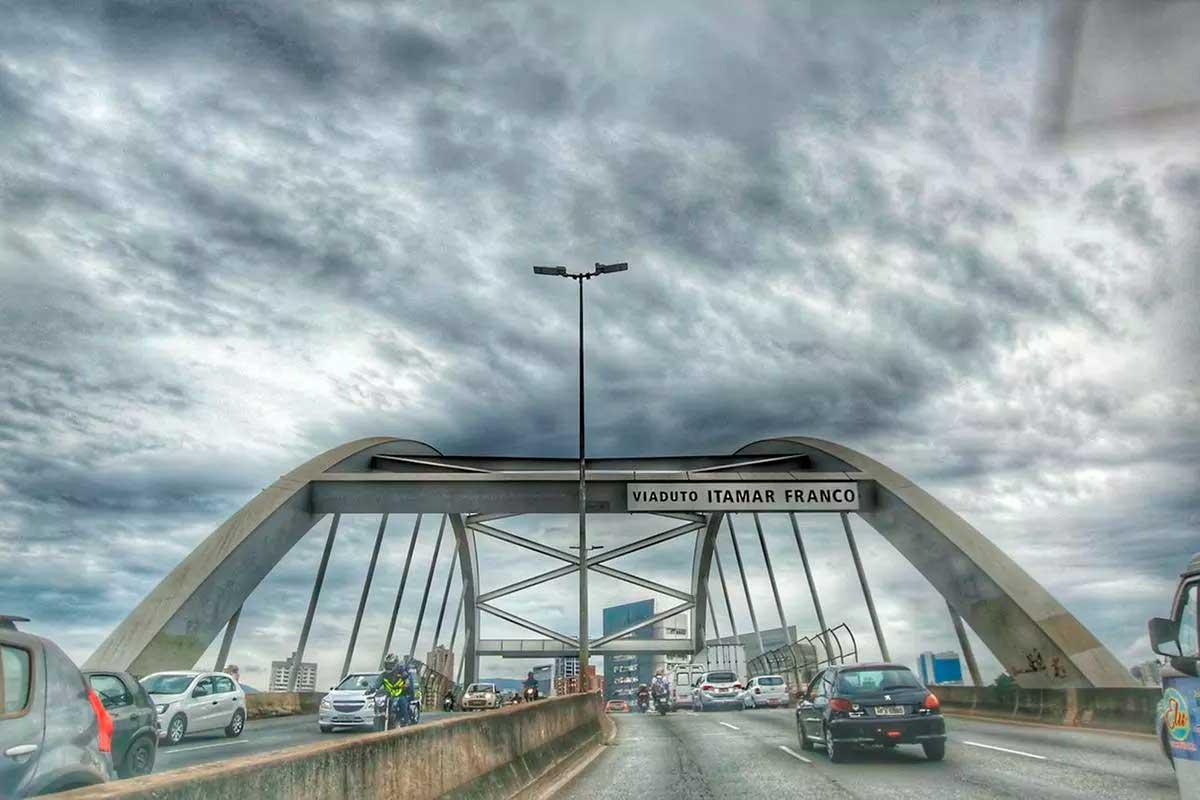 Viaduto Itamar Franco, em BH  Foto: Cristiane Mattos/O TEMPO