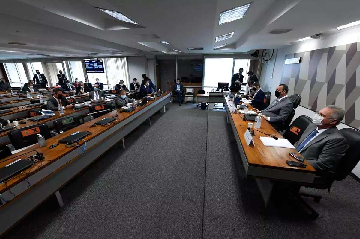 CPI da Covid-19  Foto: Edilson Rodrigues/Agência Senado