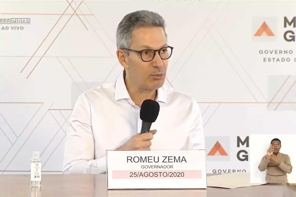 Governador Romeu Zema Foto Foto: Reprodução