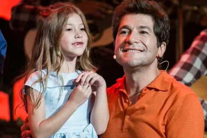 O cantor Daniel e a filha mais velha, Lara - (crédito: Reprodução)