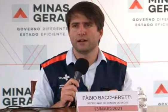 Secretário de Estado de Saúde, o médico Fábio Baccheretti Foto Foto: Reprodução/Ivanildo Lúcio/Live