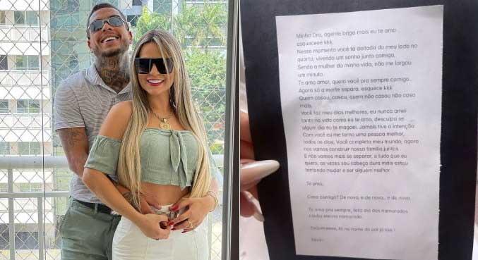 Deolane Bezerra ganhou declaração deixada por MC Kevin para o Dia dos Namorados MONTAGEM R7/REPRODUÇÃO INSTAGRAM