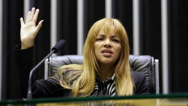 Flordelis no plenário da Câmara dos Deputados Foto: Agência O Globo