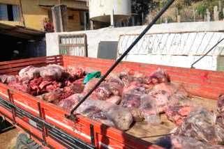 Carnes foram apreendidas em Campo Belo Foto Foto: Polícia Civil / Divulgação