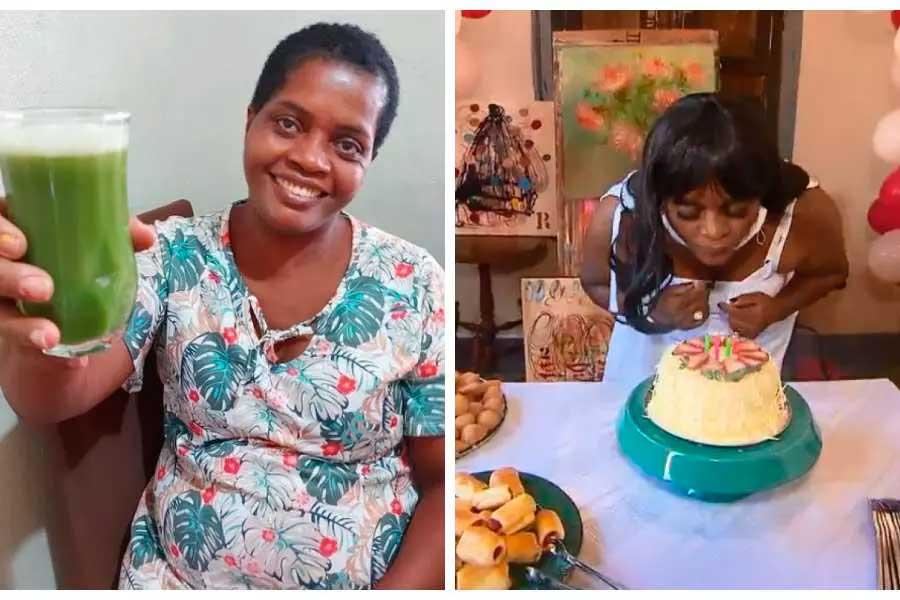 Resgatada do trabalho escravo em Minas, Madalena celebra aniversário pela 1ª vez Foto Foto: Instagram e TV Globo/Reprodução