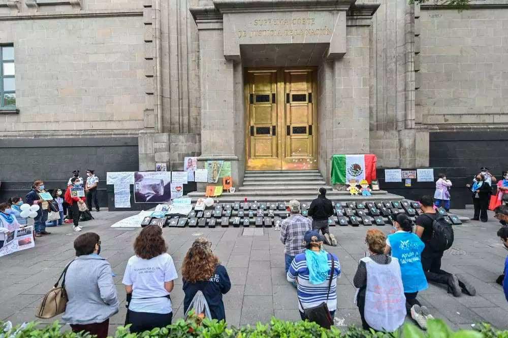 Julgamento sobre aborto na Suprema Corte do México mobilizou o país Foto Foto: PEDRO PARDO / AFP