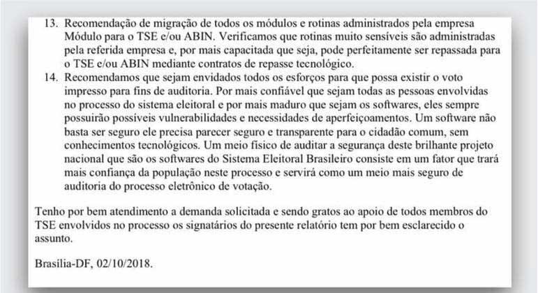 Trecho de documento elaborado pela PF em 2018 e enviado nesta semana ao Senado R7/REPRODUÇÃO