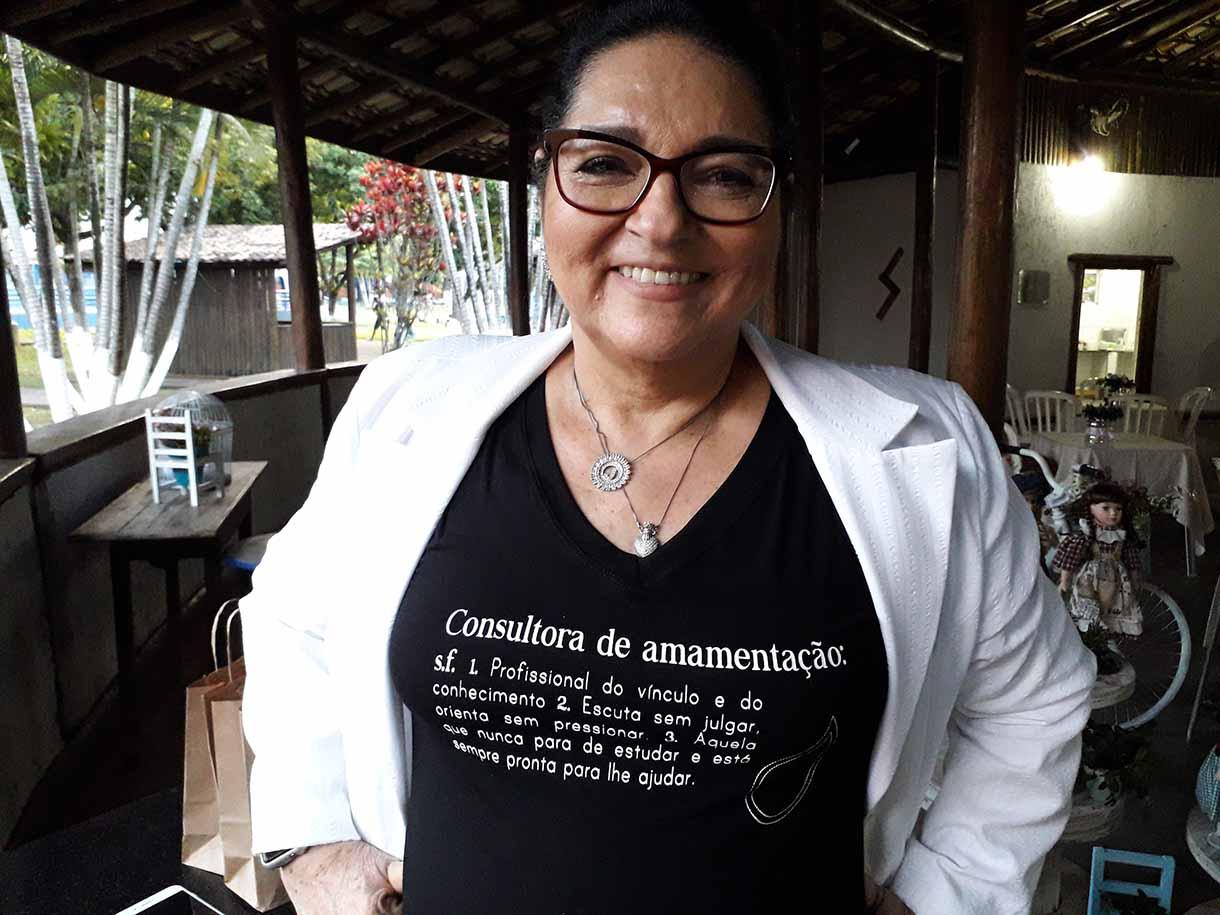 A consultora em amamentação Jussara Bôtto falou da importância do aleitamento materno, considerando a relação da mulher com a mama. (Foto: Divulgação)