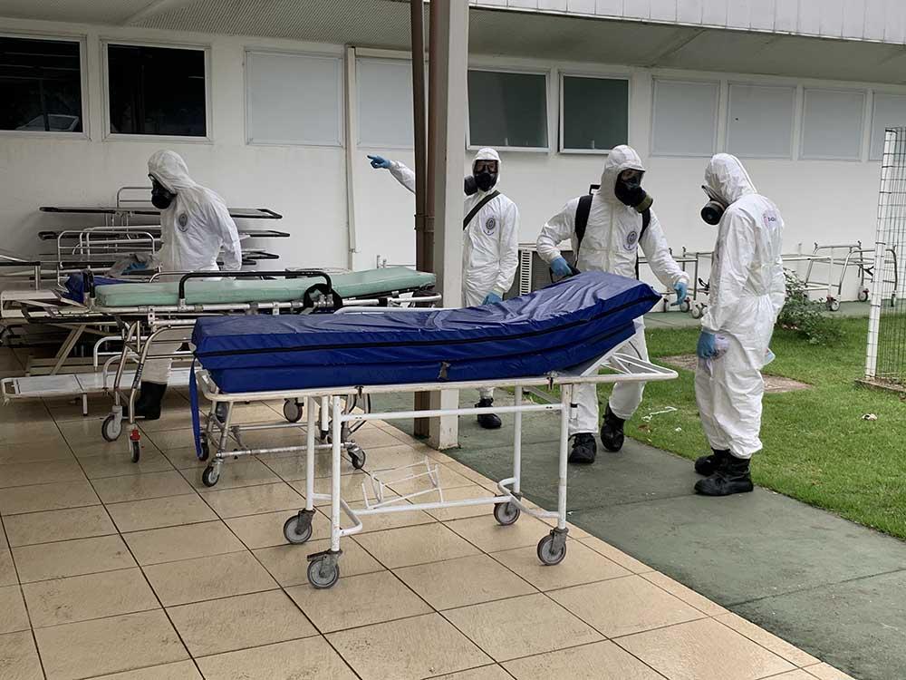 Exército conclui trabalho de desinfecção na UPA de Ipatinga (1)