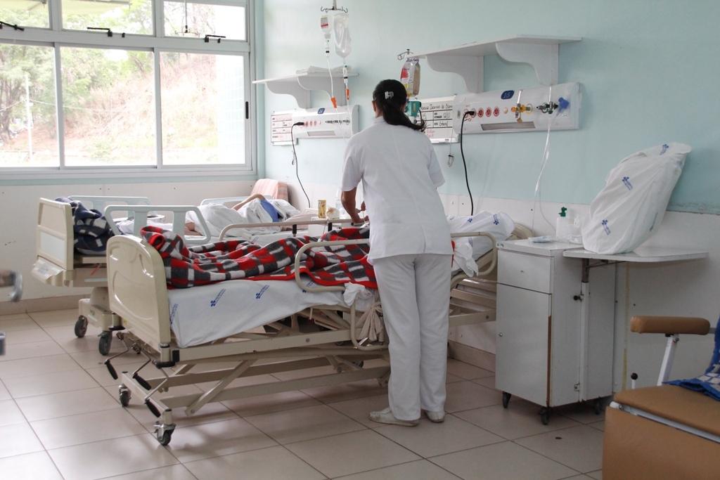 Leitos ocupados no Hospital Municipal de Ipatinga