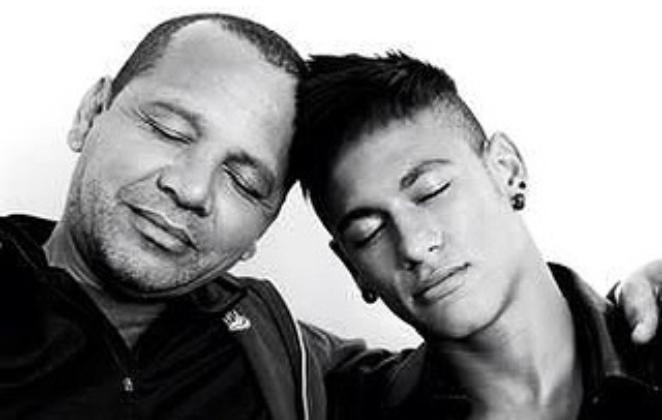 Neymar e o pai