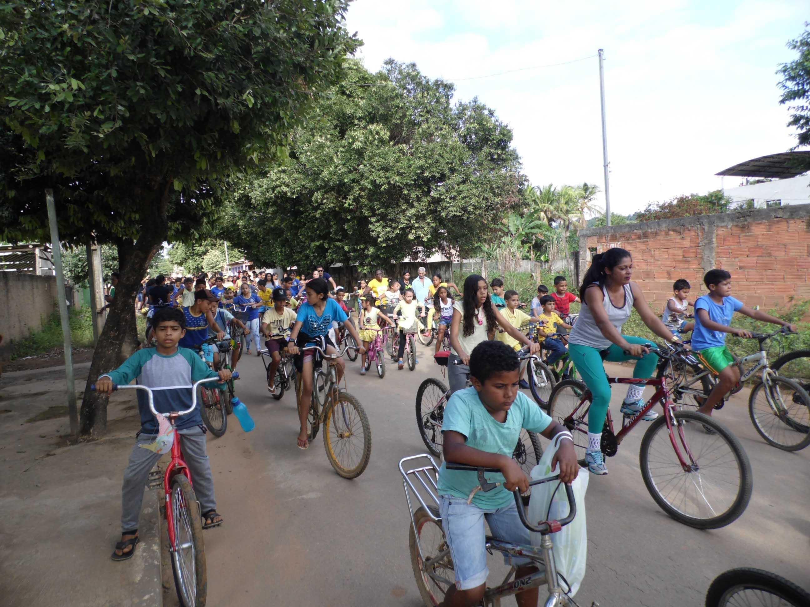 O passeio ciclistico ocorreu nos distritos de Bom Jesus do Bagre e São Sebastião de Braúnas (Foto: divulgação)