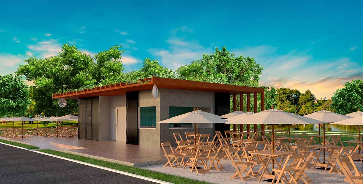 Cada quiosque terá cozinha, dois banheiros e, ainda, uma área externa dotada de pergolados e guarda-sóis.(CRÉDITOS: SECOM-PMI)