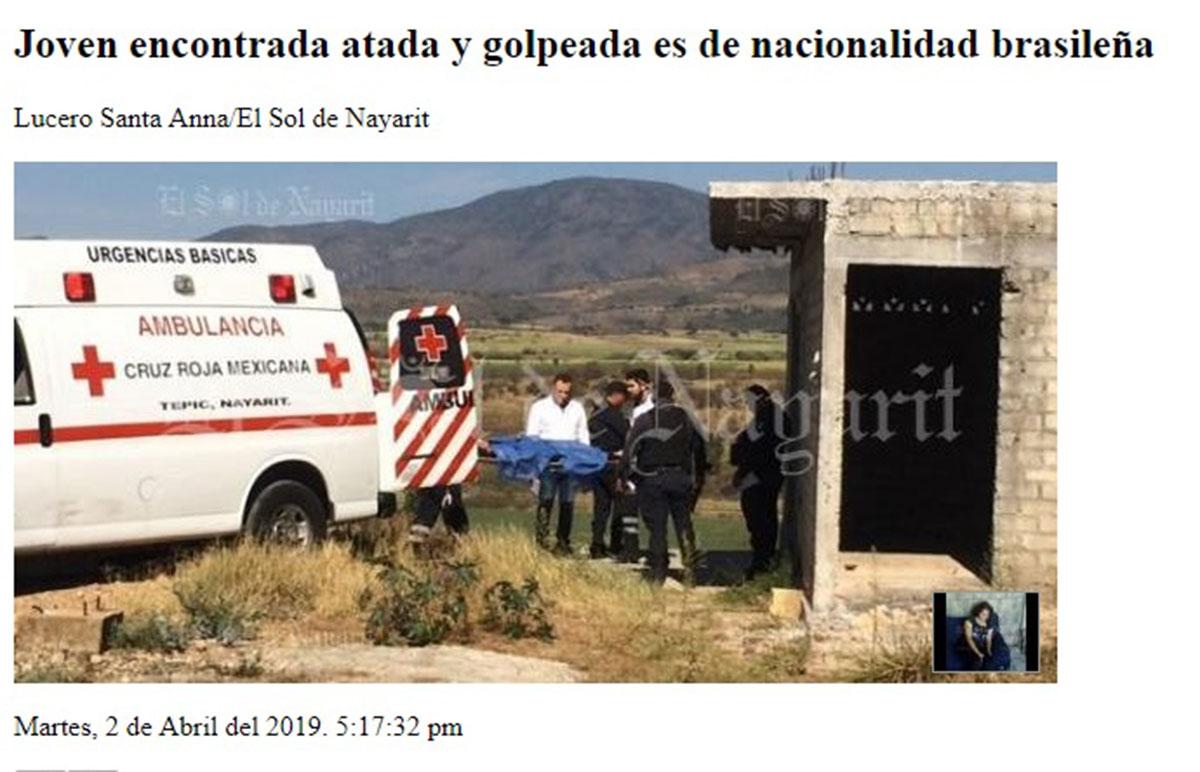 brasileira desaparecida méxico