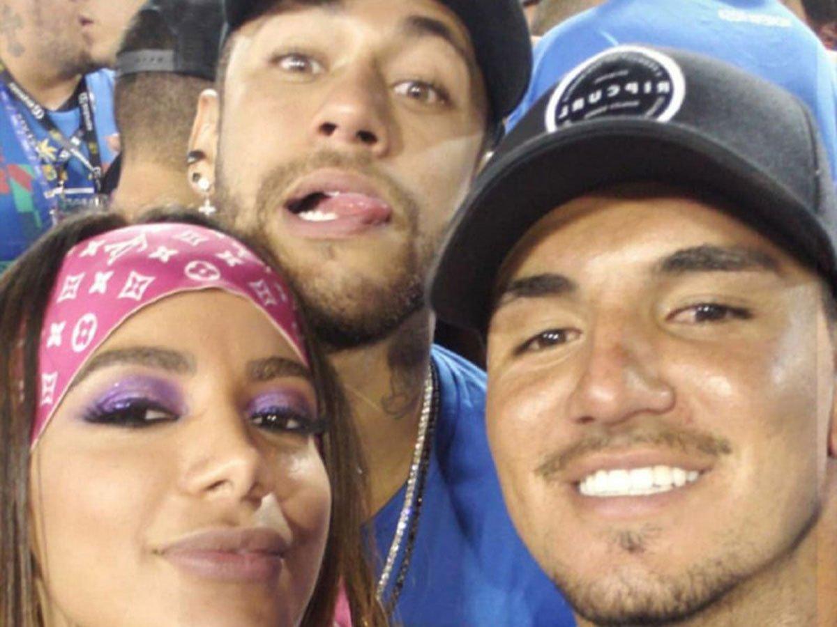 Anitta, Neymar e Gabriel Medina