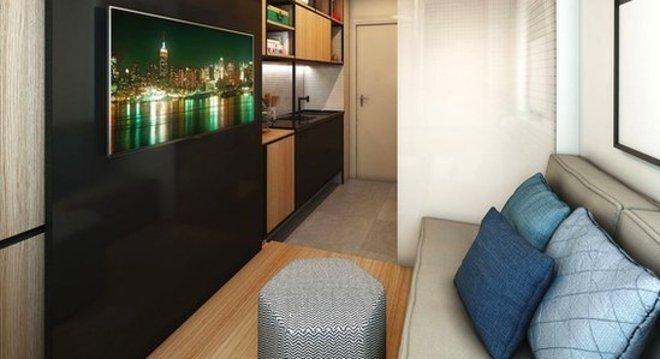 Este apartamento de 10 m² em São Paulo foi vendido por R$ 70 mil Divulgação/Vitacon