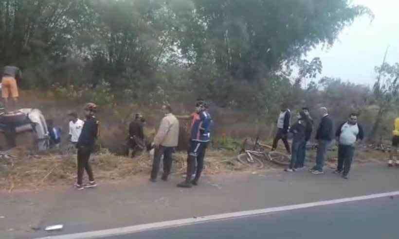O grupo de 12 ciclistas estava voltando de Romaria, onde ocorre uma festa religiosa (foto: Reprodução Internet / WhatsApp)