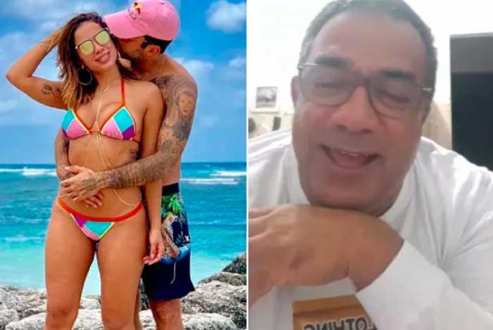 Mauro Machado afirmou que Anitta deixou o comando da carreira por Pedro Scooby - Montagem