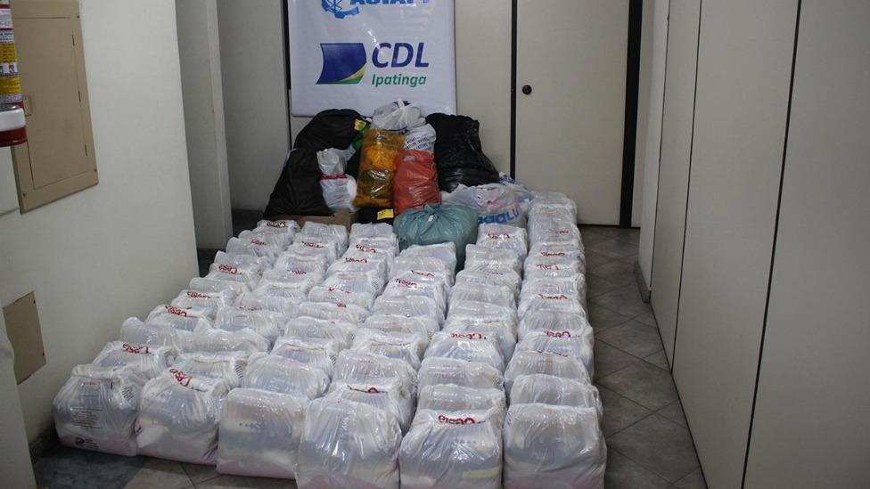 Doações arrecadadas em Ipatinga são encaminhadas para Santa Maria de Itabira
