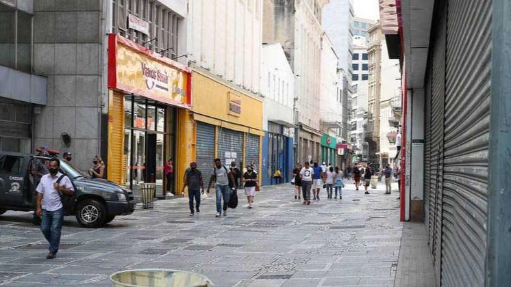 Comércio fechado na região central de São Paulo ROVENA ROSA/AGÊNCIA BRASIL - 18.03.2021
