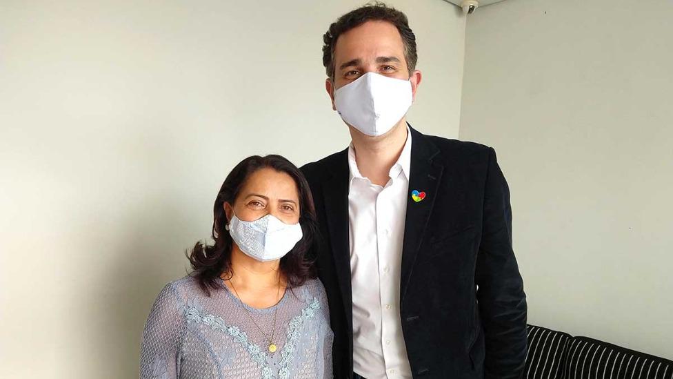Rosângela Reis consegue apoio de Rodrigo Pacheco por recursos para comunidades terapêuticas