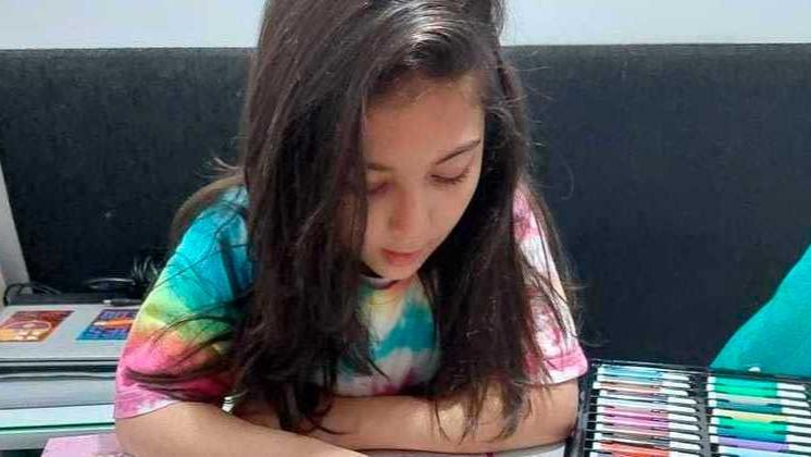 Valentyna Arthur Mariz é uma das crianças prejudicadas pela pandemia de coronavírus ARQUIVO PESSOAL