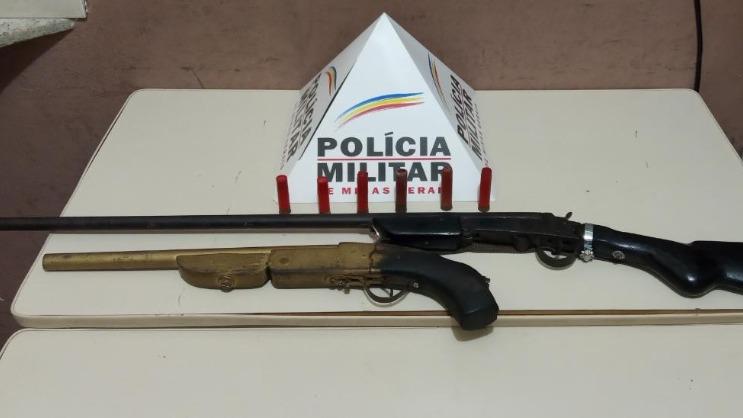 Armas encontradas em Timóteo-MG