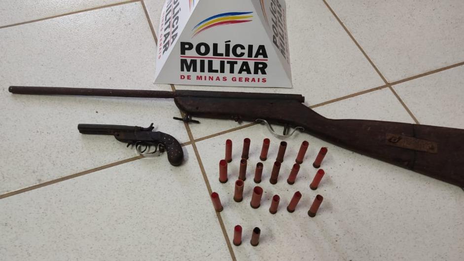 Arma encontradas em Cava Grande