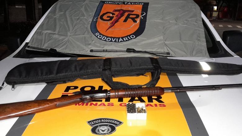 Motorista é preso com arma de fogo na rodovia MG-232 em Santana do Paraíso