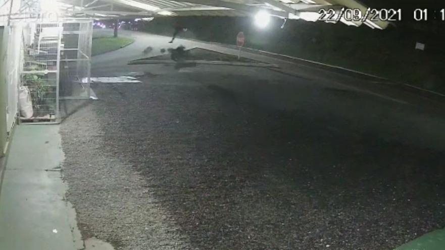"""Vídeo: adolescente """"voa"""" após perder controle de moto em rodovia"""
