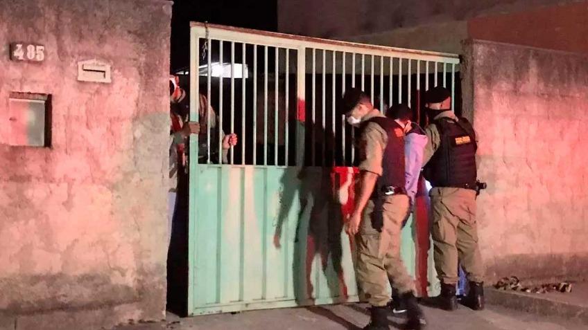 Crime aconteceu em casa do bairro Tijuco, em Esmeraldas Foto Foto: Bruno Menezes/O TEMPO