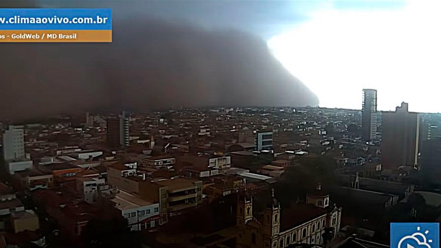 Vídeo: Tempestade de areia atinge cidades do interior de São Paulo