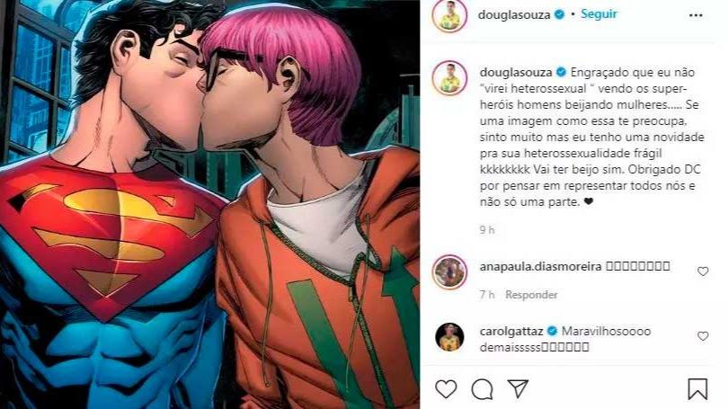 Douglas publicou mensagem de apoio à decisão da HQ em seu Instagram, instantes após a postagem de Maurício na mesma rede — Foto: REPRODUÇÃO/REDES SOCIAIS