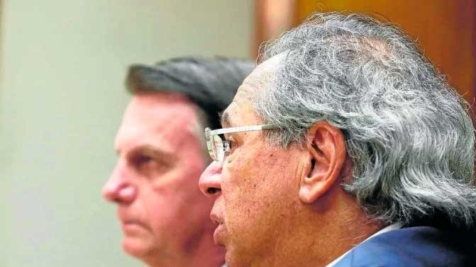 Guedes voltou a falar sobre fundo de ações para injetar parte no programa substituto do Bolsa Família - (crédito: Isac Nobrega/PR)